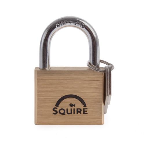 Henry Squire LN5 Premium Brass 5 Pin Double Locking Padlock 50mm  - 1