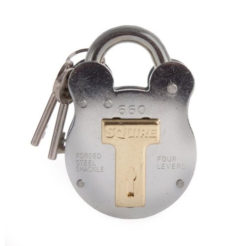 Henry Squire 660 Old English Padlock with Steel Case 64mm - 1