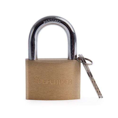 Henry Squire DFBP6 Brass Padlock (Branded Defender) 60mm - 1