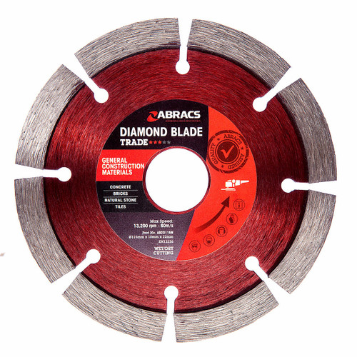 Abracs ABDD115MPDU 115mm General Purpose Diamond Blade 10mm Segment (25 Pack) - 3