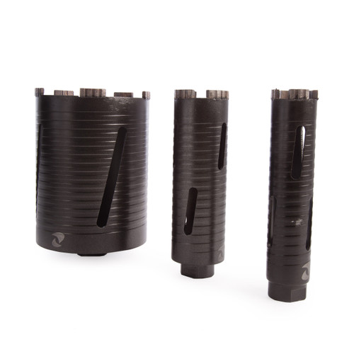 Abracs ABDCORESET3 Dry Diamond Core Bit Set (3 Piece) - 3