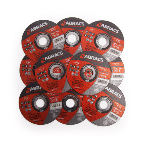 Abracs Phoenix PHET11510FI Extra Thin Metal Cutting Disc 115 x 22 x 1mm (Pack Of 10) - 1