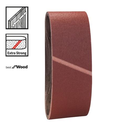 Bosch 2608606137 Sanding Belts 100mm x 610mm x 100 Grit (Pack Of 10) - 1