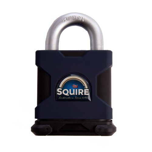 Henry Squire SS65S  Solid Steel Padlock Open Shackle Stronghold 65mm - 1