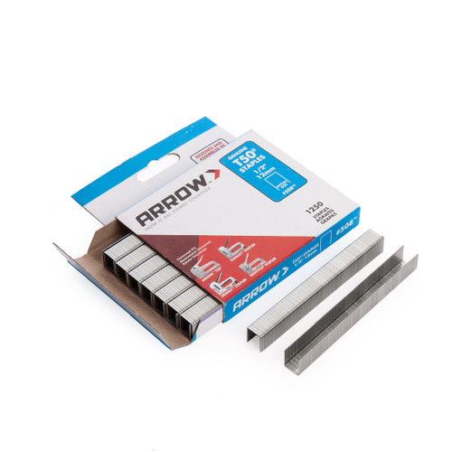 Arrow 50824 T50 Staples 12mm 1/2in (Pack Of 1250) - 1