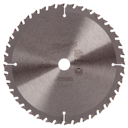 Milwaukee 4932352314 Circular Saw Blade 165mm x 15mm x 40T - 1