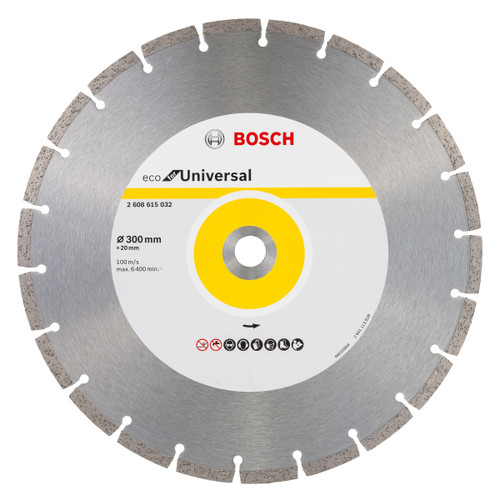 Bosch 2608615032 Eco Universal Diamond Cutting Disc 300mm x 20mm - 1