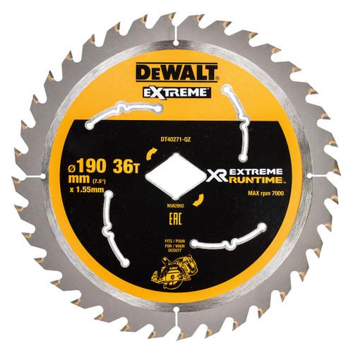 Dewalt DT40271 XR Flexvolt Extreme Runtime Circular Saw Blade 190mm x 36T - 2