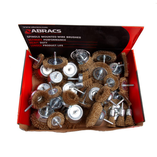 Abracs ABWBSMDISP 40pc Spindle Mounted Wire Brushes - 2