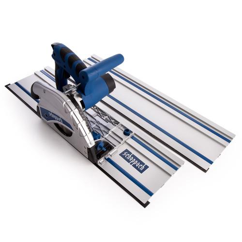 Scheppach CS55 Plunge Saw 160mm with 2 x 700mm Guide Rails (3901802985) - 3