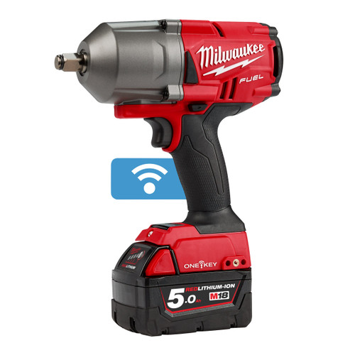 Milwaukee M18ONEFHIWF12-502X FUEL ONE-KEY Impact Wrench 1/2in Drive with Friction Ring (2 x 5.0Ah Batteries) - 7