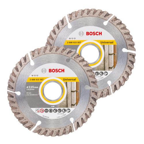 Bosch 06159975S9 Diamond Blade Twin Pack 115mm - 5