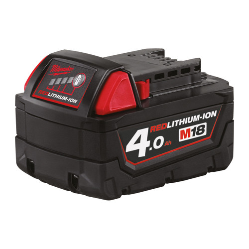 Milwaukee M18B4 18V 4.0Ah Red Lithium Ion Battery - 2
