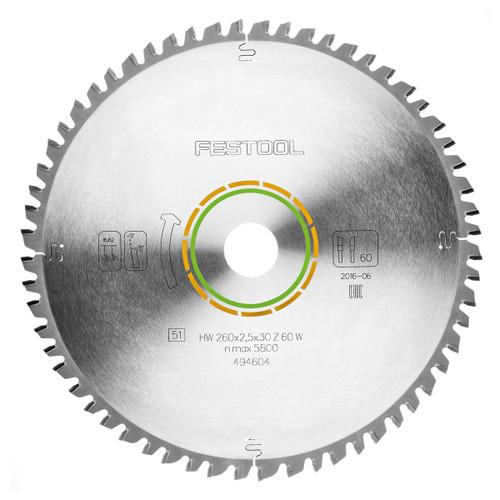 Festool 494604 Universal Saw Blade 260mm x 30mm x 60T - 1