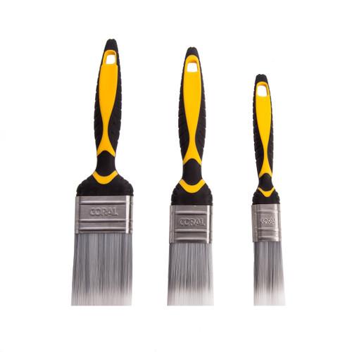 Coral 31504 Shurglide Paint Brush Set (3 Piece)