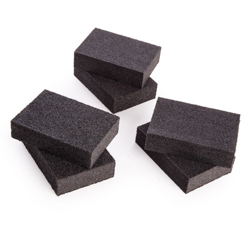 Coral 74300 Sanding Sponge Blocks Wet or Dry Fine Medium and Coarse Grits (6 Piece) - 1