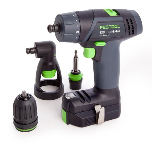 Festool 564512 10.8V Cordless Drill TXS Li 2,6-Set GB (2 x 2.6Ah Batteries) - 8