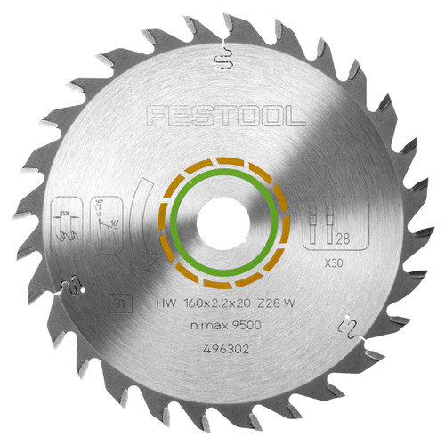 Festool 496302 Universal Saw Blade For Wood 160mm x 20mm x 28T - 1