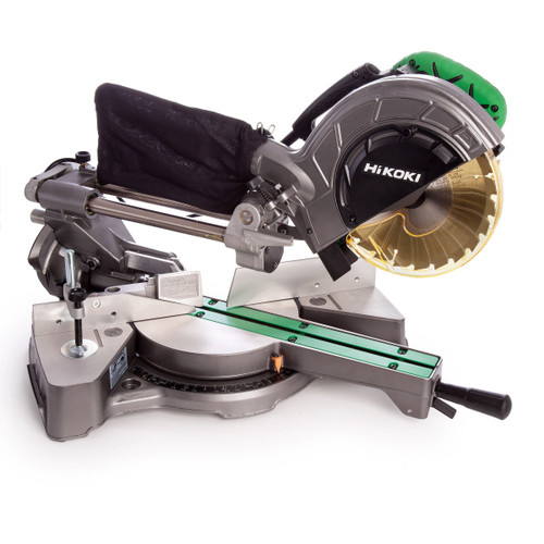 HiKOKI C8FSE Slide Compound Mitre Saw 216mm / 8. 1/2 Inch with 2 Blades 110V - 3