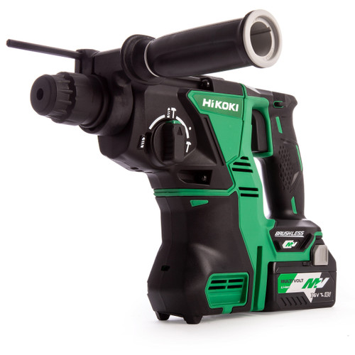 HiKOKI DH 36DPA 36V Multi-Volt Brushless SDS Plus Rotary Hammer (3 x 2.5Ah Batteries) - 4