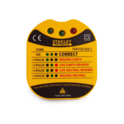 Stanley FMHT82568-5 Wall Plug Tester (UK) - 3