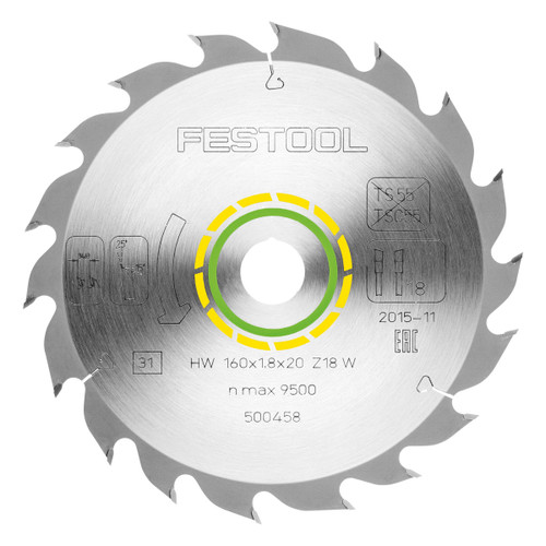 Festool 500458 Standard Saw Blade 160mm x 20mm x 18T - 2