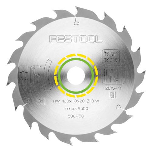 Festool 500458 Standard Saw Blade 160mm x 20mm x 18T - 2