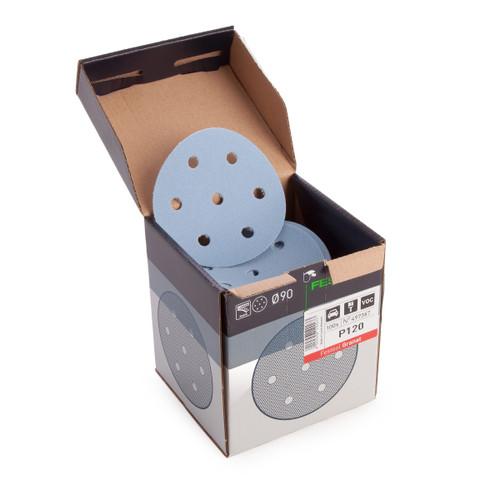 Festool 497367 StickFix Sanding Discs STF D90/6 P120 GR/100 Granat - 2