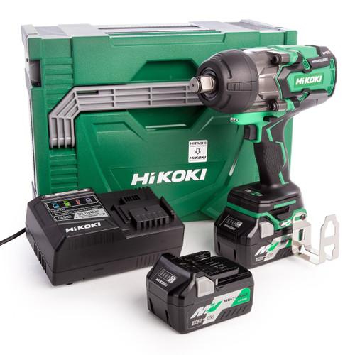 HiKOKI WR 36DA 36V Multi-Volt Brushless Impact Wrench 3/4in Drive (2 x 2.5Ah Batteries) - 2