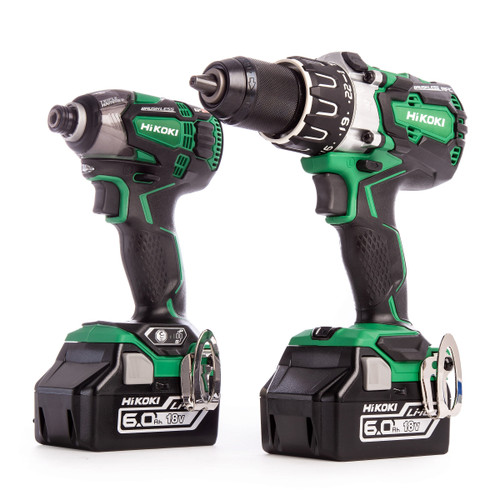 HiKOKI KC18DPL2 18V 2 Piece Brushless Kit - Combi Drill / Impact Driver (2 x 6.0Ah Batteries) - 5