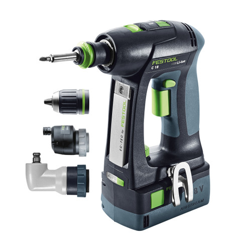 Festool 575673 18V Cordless Drill (2 x 5.2Ah Batteries) - 3