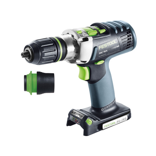 Festool 574701 18V Cordless Percussion Drill PDC 18/4 Li-Basic QUADRIVE (Body Only) - 4