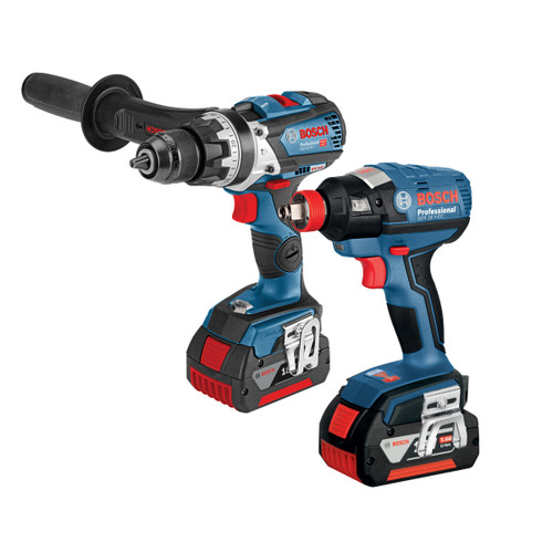 Bosch GSB 18 V-85 C Bluetooth Combi Drill + GDX 18 V-EC Impact Wrench Twin Pack (2 x 5.0Ah Batteries) - 5