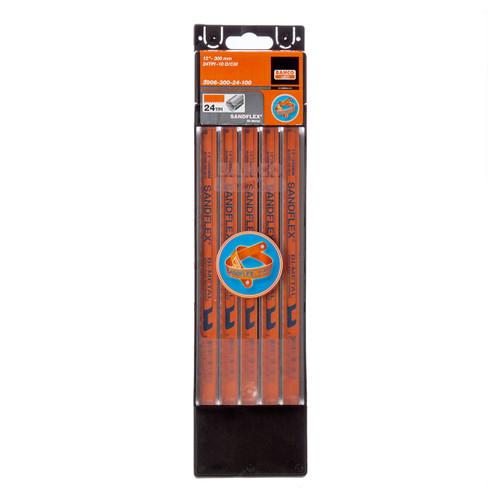 Bahco 3906 Sandflex HSS Bi-Metal Hacksaw Blades 12 Inch x 24TPI (100 Pack) - 2