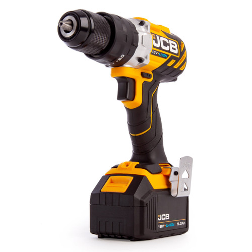 JCB 18BLCD-5 18V Brushless Combi Drill (2 x 5.0Ah Batteries) - 5