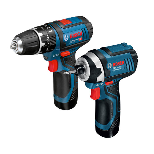 Bosch GSB 12V-15 Combi Drill + GDR 12V-105 Impact Driver Kit (2 x 2.0Ah Batteries) - 5
