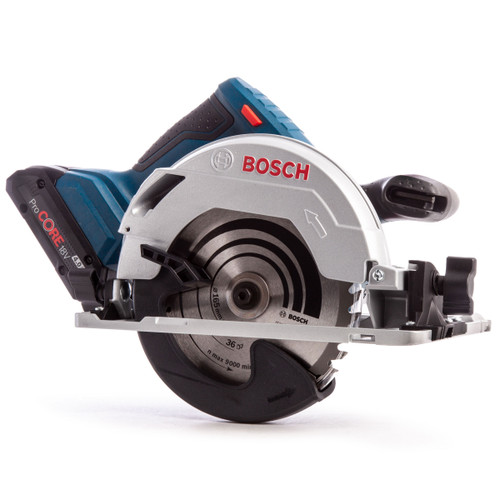 Bosch GKS 18V-57 G Professional Circular Saw (2 x 5.0Ah Coolpack & 1 x 4.0Ah ProCORE Batteries) - 3