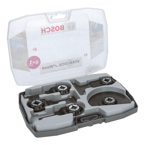 Bosch 2608664623 Starlock Wood Working Multi-Tool Blade Set (7 Piece) - 1