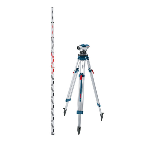 Bosch GOL 20 D Professional Optical Level + BT 160 Tripod + GR 500 Levelling Rod Set - 3