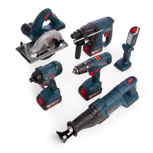 Bosch 0615990K9C 18V Light Series Professional Heavy Duty 6 Piece Kit (3 x 4.0Ah Batteries) - 7