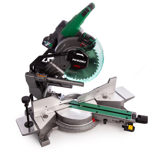HiKOKI C 3610DRA 36V Multi-Volt Brushless Slide Compound Mitre Saw 255mm (2 x 4.0Ah Batteries) - 8