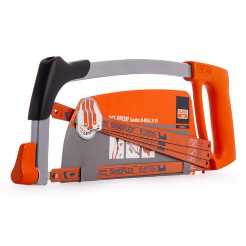 Bahco 317-PROM Sandflex Bi-Metal Single Hacksaw with 4 x 12 Inch Blades (Box of 10) - 2