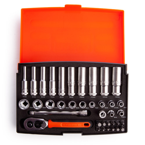 Buy Bahco SL25L Metric Socket and Mechanical Set 1/4in Dynamic Drive (37 Piece) at Toolstop