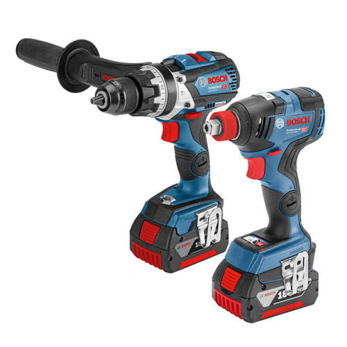 Bosch GSB 18 V-85 18V and GDX 18 V-200 Combi Drill & Impact Driver Twin Pack (2 x 5.0Ah Batteries) - 4