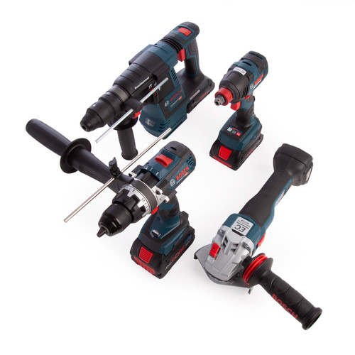 Bosch GSB18V85C 18V Robust Series Professional Heavy Duty 4 Piece Kit (2 x 4.0Ah & 1 x 8.0Ah ProCORE Batteries) - 6