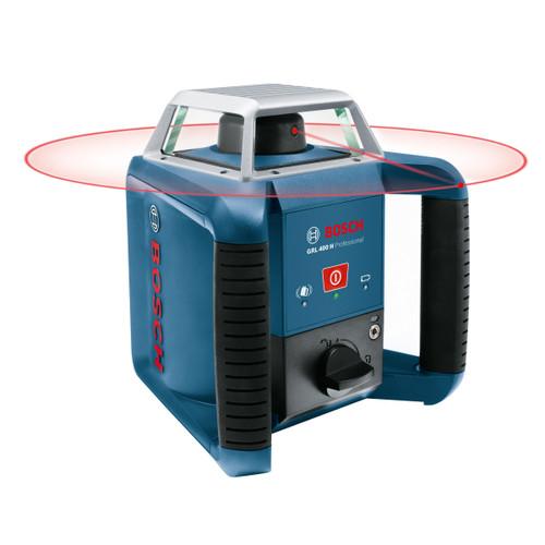 Bosch GRL 400 H Rotation Laser + LR1 Receiver + GR240 Cut & Fill Rod + BT 170 HD Tripod - 3