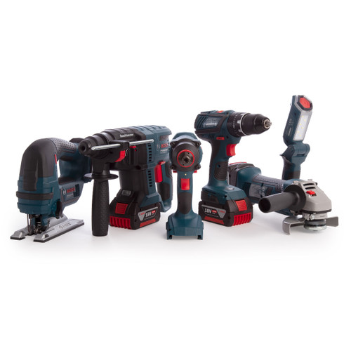 Bosch 0615990K9F 18V Dynamic Series Professional Heavy Duty 6 Piece Kit (3x 4.0Ah Batteries) - 6