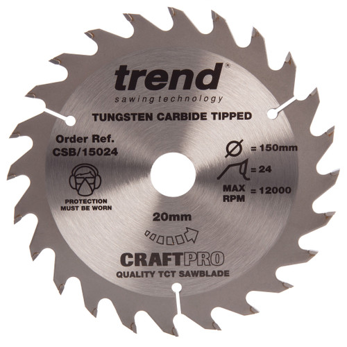 Trend CSB/15024 CraftPro Saw Blade Combination 150mm x 24T - 2