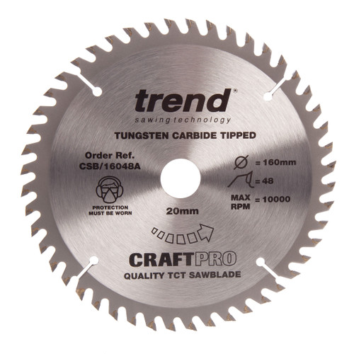 Trend CSB/16048A CraftPro Saw Blade Crosscut 160mm x 48T - 2