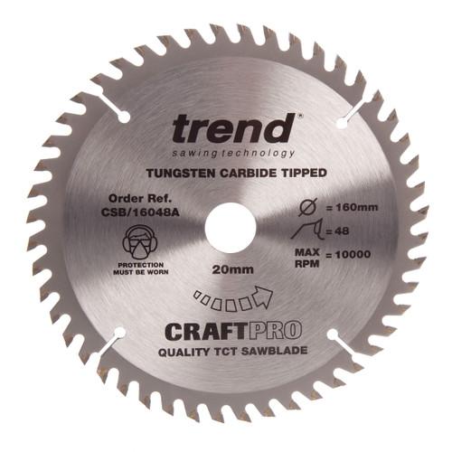 Trend CSB/16048A CraftPro Saw Blade Crosscut 160mm x 48T - 2